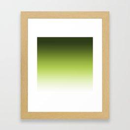 Olive ,green , Ombre Framed Art Print