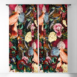 Floral and Animals pattern II Blackout Curtain