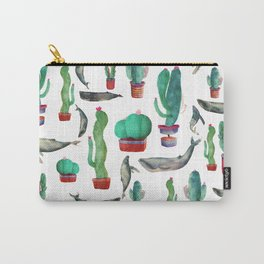 Cactus & whales Pattern Carry-All Pouch