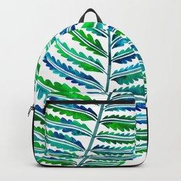 Fern Leaf – Blue & Green Palette Backpack