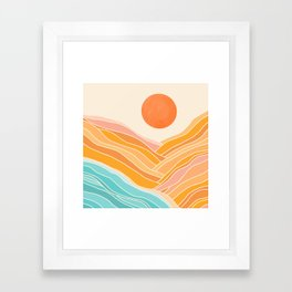 Adventure On The Horizon / Abstract Landscape Framed Art Print