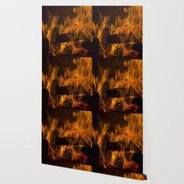 Fireside Warmth Wallpaper
