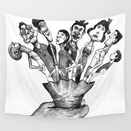 Bouquet of Characters Wall Tapestry