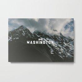 Washington Type Metal Print