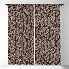 V.13 - Striated Leaves - Early Winter Blackout Curtain