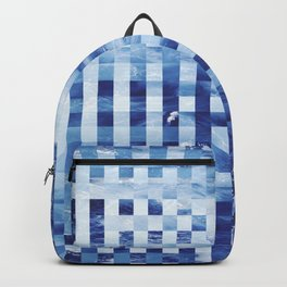 Nautical pixel abstract pattern Backpack