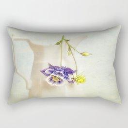 still life with Aquilegia Rectangular Pillow