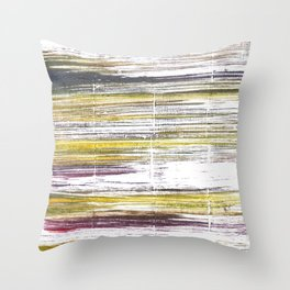 Baby powder abstract watercolor Throw Pillow