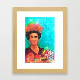Frida Fragil y fuerte Framed Art Print