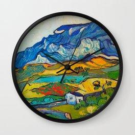 Les Alpilles, Mountain Landscape near South Reme Vincent van Gogh 1889 Wall Clock