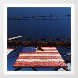 have you got a flag ? usa clock Art Print
