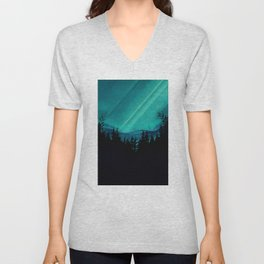 Magic in the Woods - Turquoise Unisex V-Neck