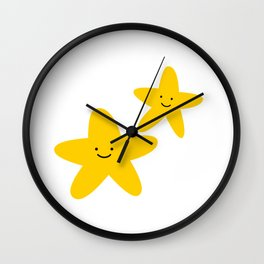 Kawaii Starfish Friends Wall Clock