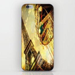 pariS. : Eiffel Tower & Ferris Wheel iPhone Skin
