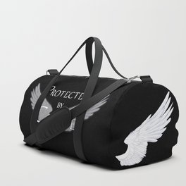 Protected by Castiel White Wings Duffle Bag