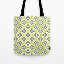 Cog Buttons - Green and Grey Tote Bag