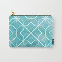 Geometric Crystals: Sea Glass Carry-All Pouch