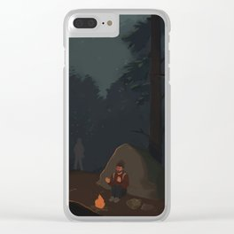 Fireflies (The Last of Us) Clear iPhone Case