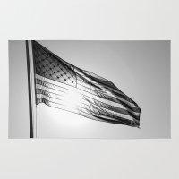 america Area & Throw Rugs featuring America by Brandi Korte