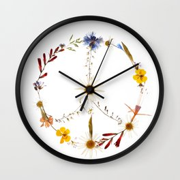 Peace flowers Wall Clock