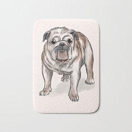 Bulldog illustration Bath Mat
