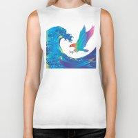 hokusai Biker Tanks featuring Hokusai Rainbow & Eagle by FACTORIE