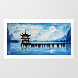 Mountains in the Sky Art Print
