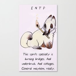 MBTI GHOSTS AND GHOULS - ENTP  Canvas Print