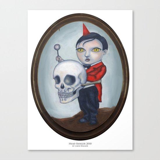 Head Banger - Carnival Sideshow Freak Canvas Print