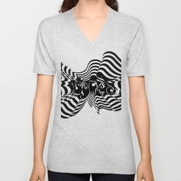 Psycho wave clear Unisex V-Neck