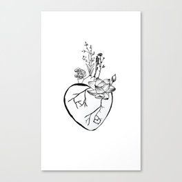 A Blooming Heart Canvas Print