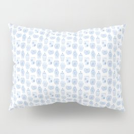 Classic Blue And White Watercolor Ginger Jar Chinoiserie Pattern Pillow Sham