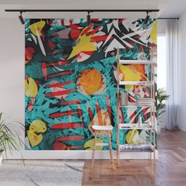 abstract colored chaos Wall Mural