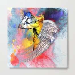 angel male nude Metal Print
