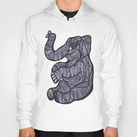 baby elephant Hoodies featuring Baby Elephant by Kate Shea