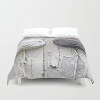 the wire Duvet Covers featuring Wire Covers by Ethna Gillespie
