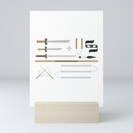 Ninja Weapons Mini Art Print