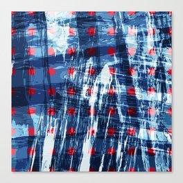 dots on blue ice Canvas Print