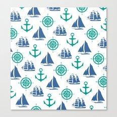Nautical Pattern Canvas Print