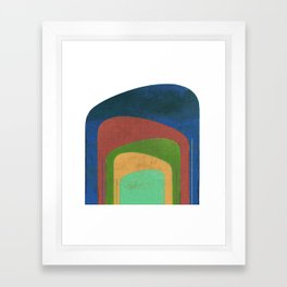 A Elephants Stack Framed Art Print