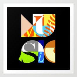 Music Typography Art Print