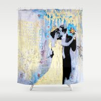 dance Shower Curtains featuring Dance by Tati Galiano