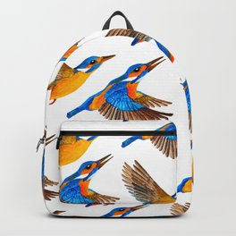 Flying Kingfishers | Yellow and Blue Color Palette Backpack