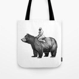 Bear Ride Tote Bag