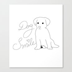 Dog Smile Canvas Print