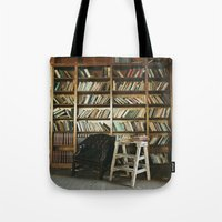 library Tote Bags featuring Library by dekko