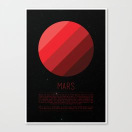 Galaxy Cake - Mars Canvas Print