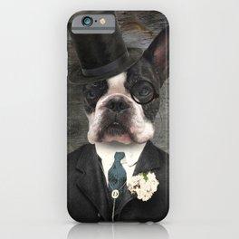 Sir Duncan - Boston Terrier Portrait iPhone Case