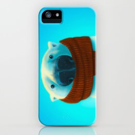 Polar bear with scarf iPhone Case