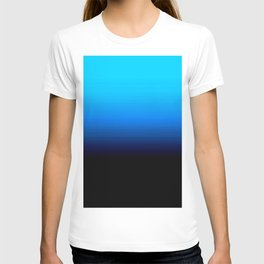 Sky Blue to Darkest Blue Ombre T-shirt